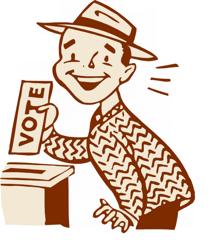image royalty free Socialist electoralism the capitalist. Voting clipart black and white