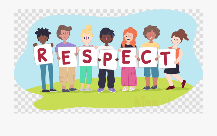 vector freeuse stock Kids playing moral values. Respect clipart.