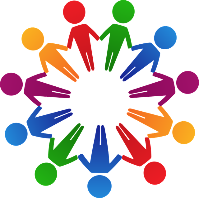 picture stock New race and inclusion. Circle of friends clipart