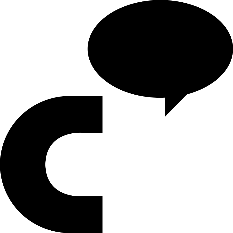 black and white stock Cinch Logo Of Letter C With An Oval Speech Bubble Svg Png Icon Free