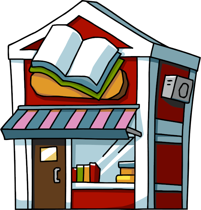 png Supermarket clipart shopfront. Book store scribblenauts wiki