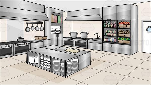 vector free download A background . Restaurant kitchen clipart.