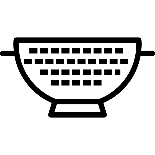 jpg transparent download Restaurant kitchen clipart. Strainer food and colander.