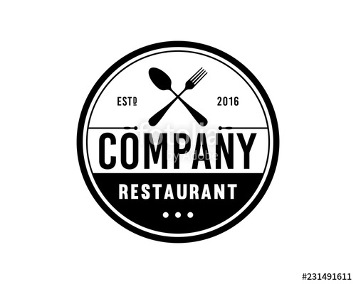 vector freeuse download Vector Crossed Spoon and Fork for Restaurant Sign Symbol