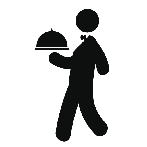 clip art black and white library Png image purepng free. Restaurant waiter clipart