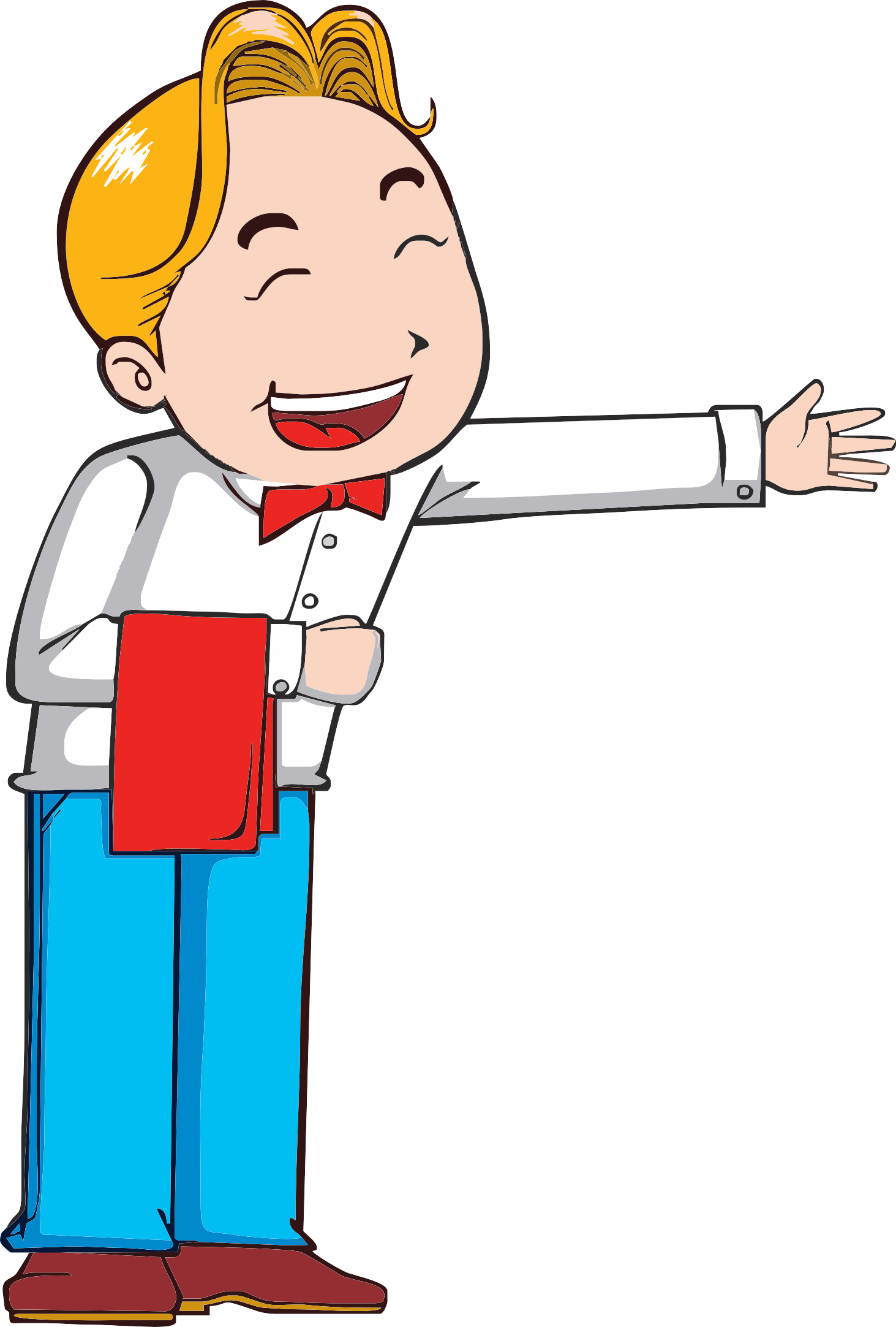 svg transparent library Waiter clipart. Download clip art welcome