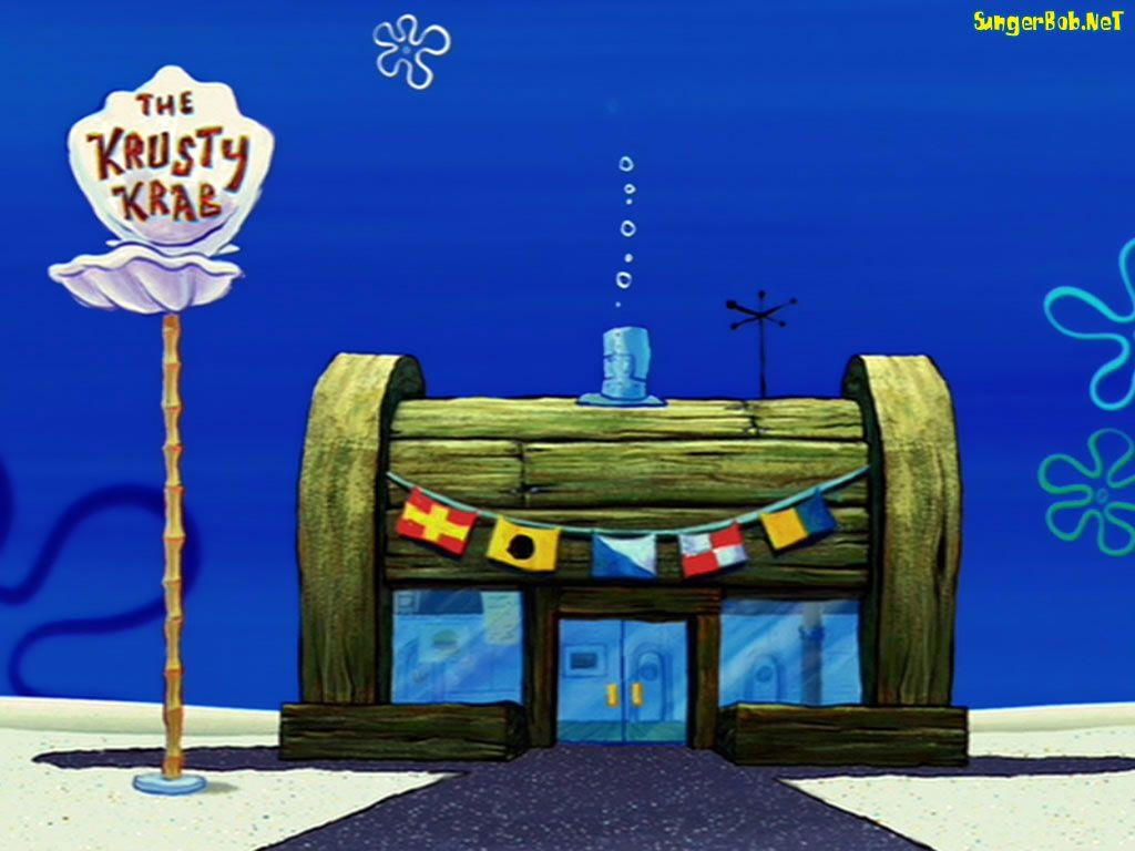 png freeuse stock Restaurants drawing spongebob. Krusty krab kids