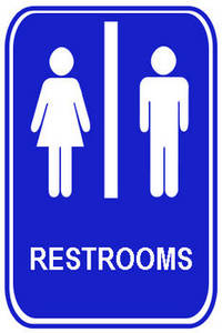 clip black and white stock Restroom clipart.  clip art clipartlook.