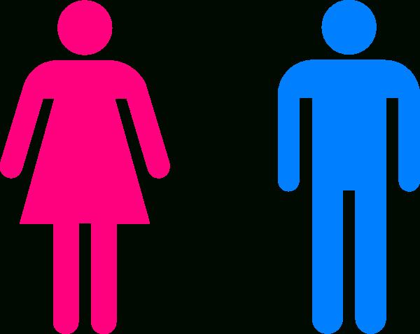 clip art transparent library Restroom clipart. Men and women bathroom.