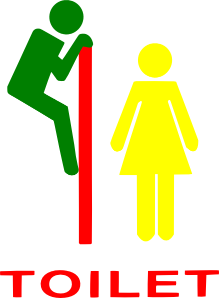 image black and white Signs clip art at. Restroom clipart.