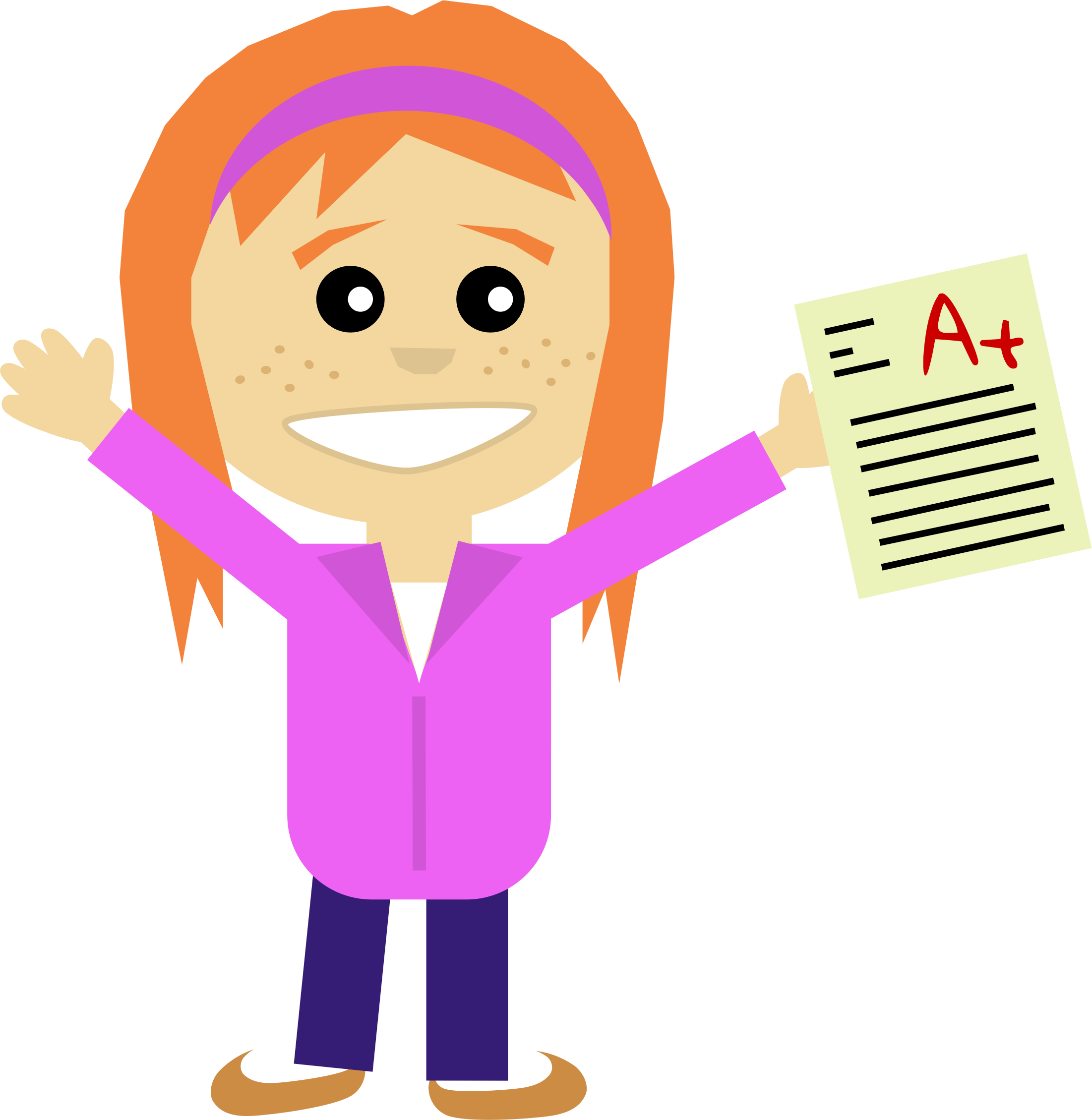 image stock Happy girl clipart.  collection of student