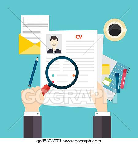 graphic royalty free Vector cv job interview. Resume clipart.