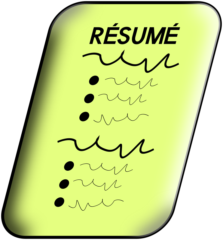 clip art transparent Medium image png . Resume clipart.