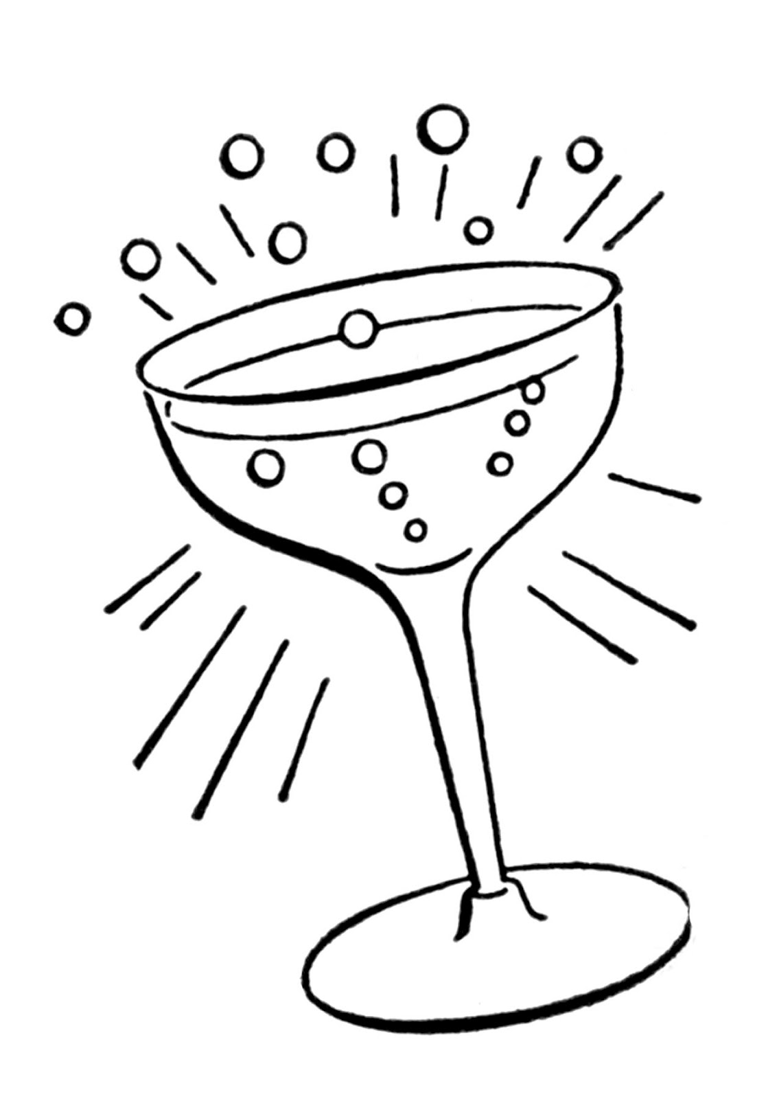clip art library Retro Line Drawings