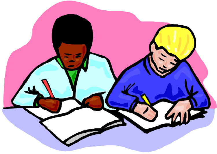 vector black and white stock Boys writing comprehension clip. Writer clipart boy
