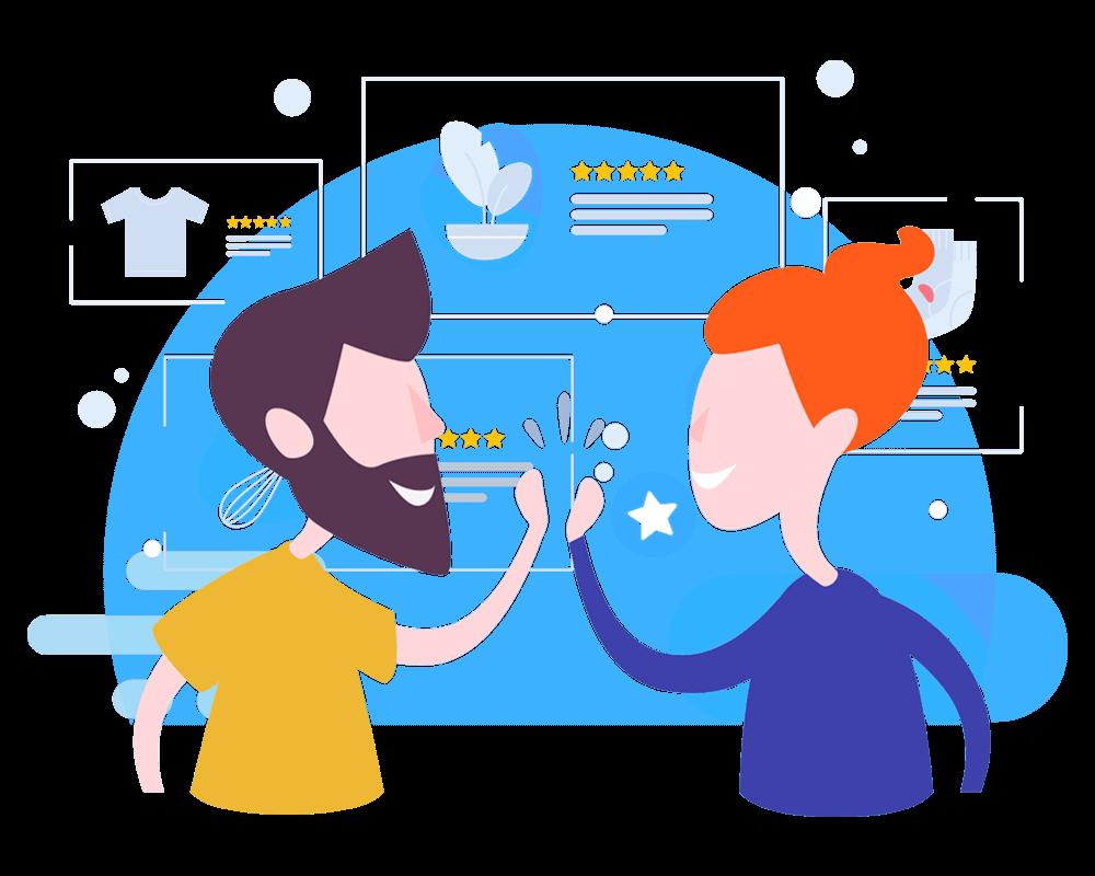 vector transparent download Customer Review platform for any Website