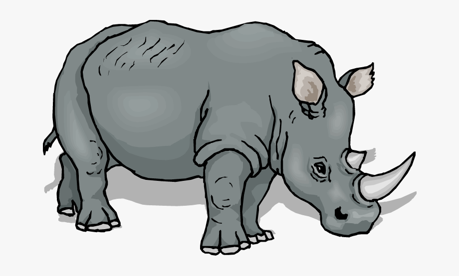 png free library Rhino clipart. Free transparent cartoon .