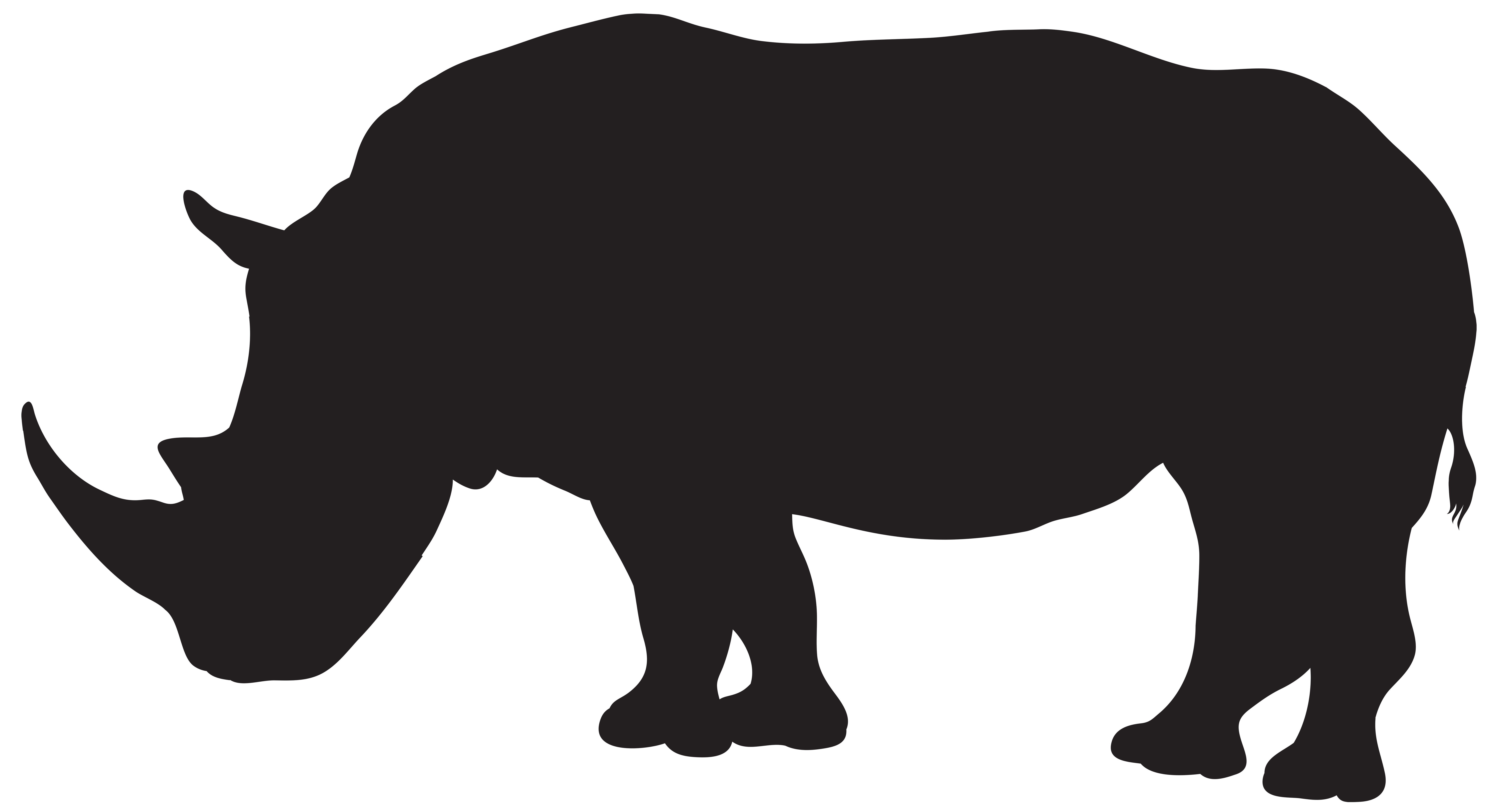 picture download Rhino Silhouette PNG Transparent Clip Art Image