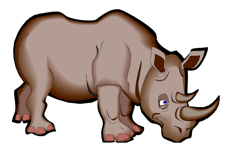 freeuse Rhino clipart. Free cartoon.