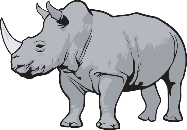graphic transparent stock Rhino Gray Clip Art at Clker