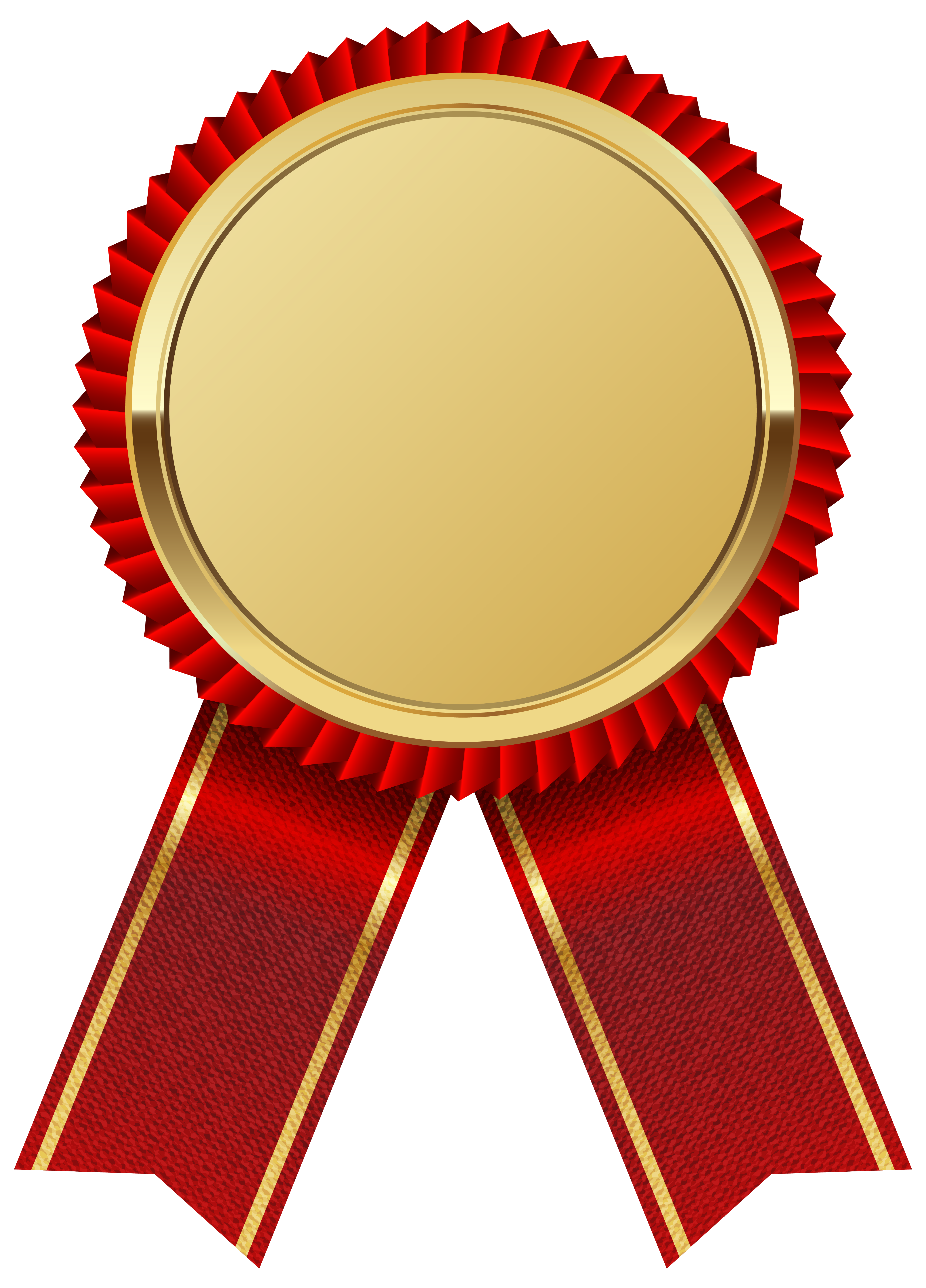 clip art free download Vector certificate round. Gold medal with red