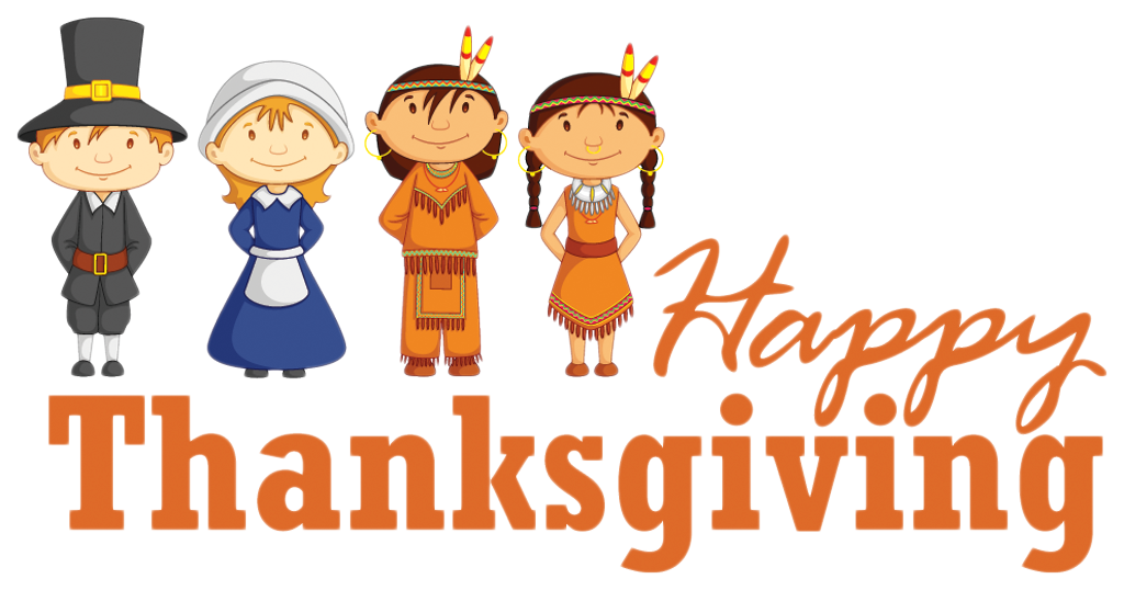 picture royalty free stock Clipart happy thanksgiving. Transparent with pilgrim and