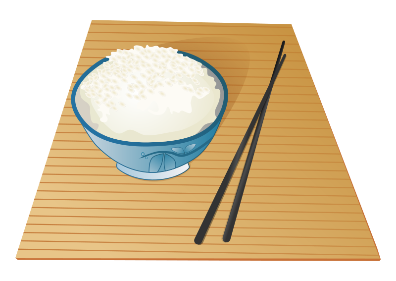 graphic stock Asian food bowl of. Chopsticks clipart vector.