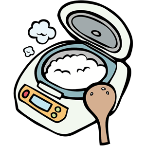 vector free library Cooker clipart cliparts of. Rice vector steam