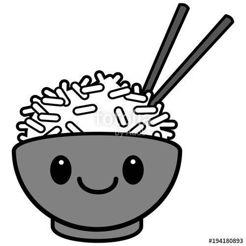 vector library download Kawaii bowl illustration a. Rice vector topping