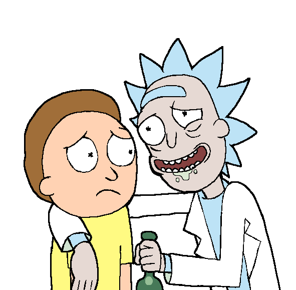png library Rick and Morty Drinking Buddies transparent PNG