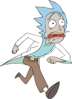 svg free Transparent Rick running away from his problems
