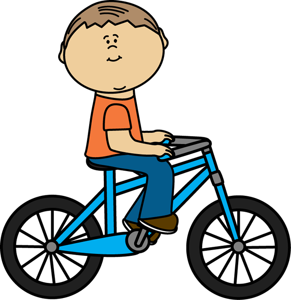 image royalty free Boy riding bike . Biking clipart.