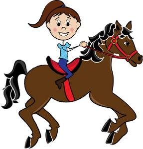 image Ella loves her horse. Riding clipart.