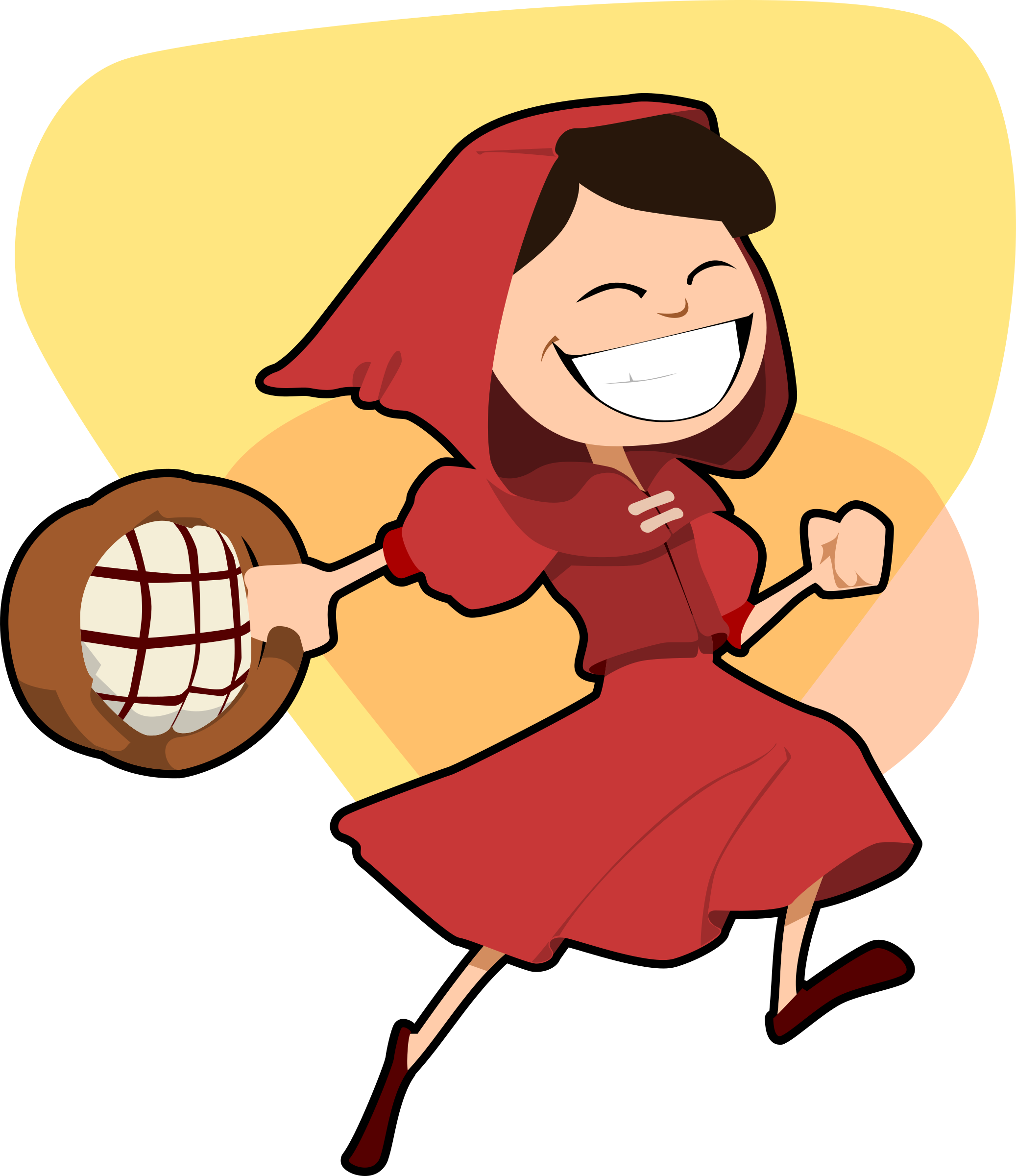 jpg royalty free download Little red hood big. Riding clipart.