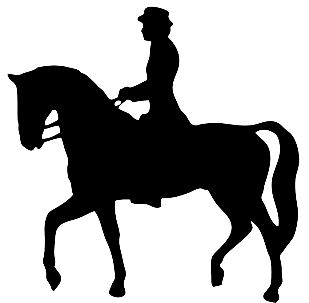 banner free download Riding Horse Silhouette at GetDrawings