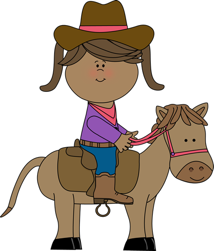 banner freeuse Cowgirl Riding Horse Clipart