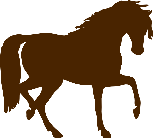 clip art black and white download Clip art at clker. Brown clipart horse