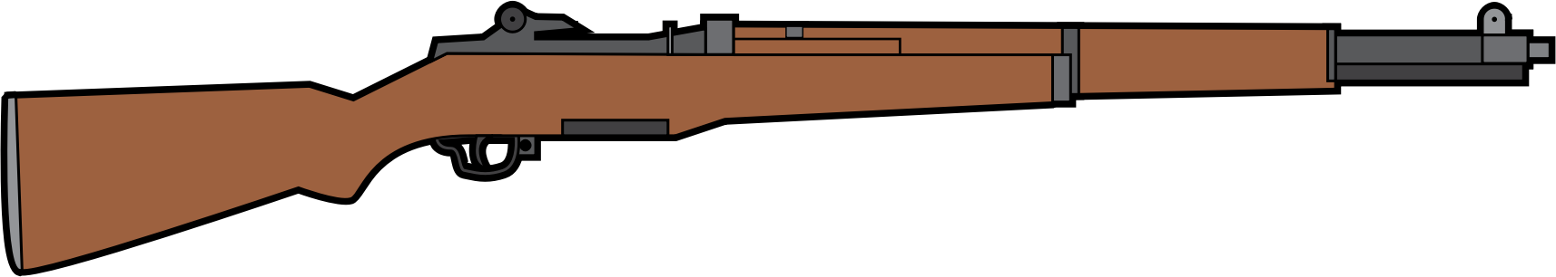 svg freeuse stock M garand big image. Rifle clipart.