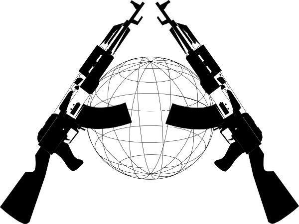 vector freeuse Guns clipart black and white. Clip art at clker