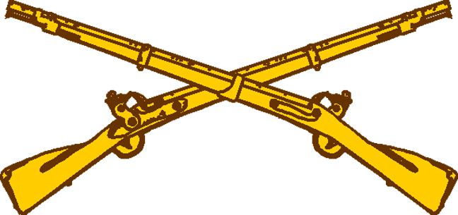 jpg freeuse download Us army infantry crossed rifles clipart. Rifle pencil and in.
