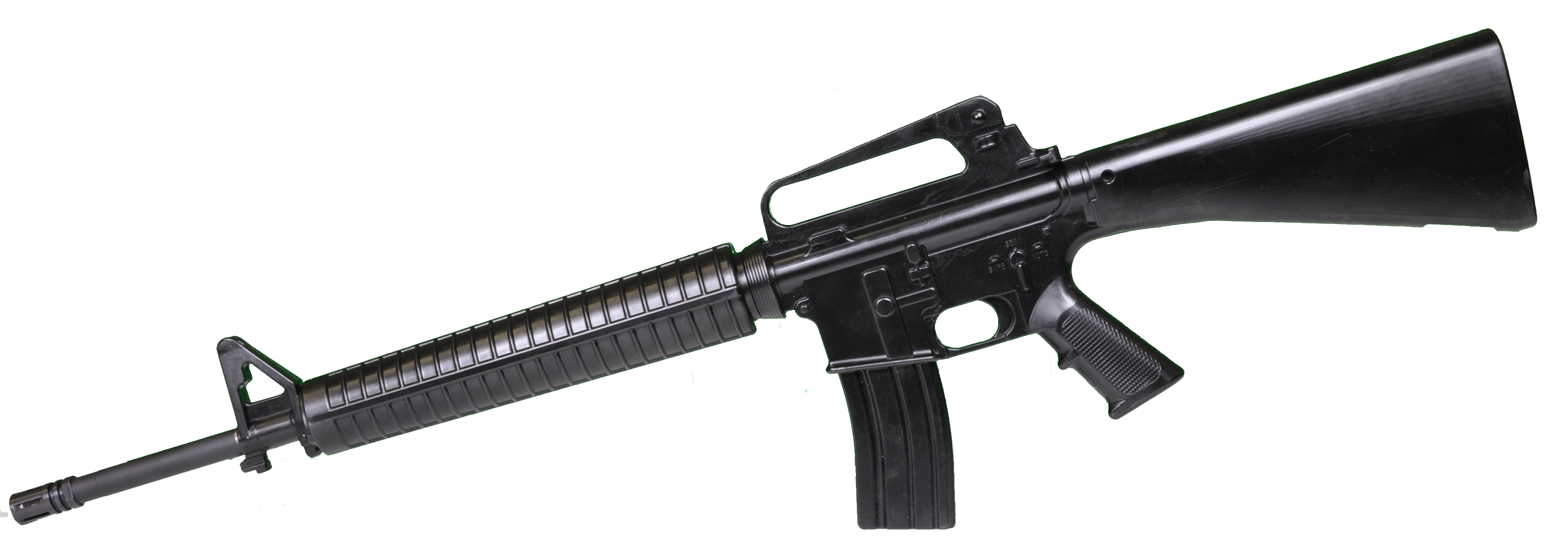 clip art transparent library Black Assault Rifle PNG Image
