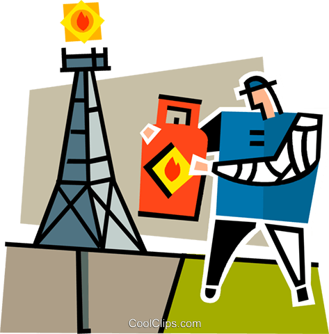 picture royalty free Oil Rig Clipart oil man