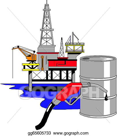 png royalty free stock Vector oil drilling illustration. Rig clipart.