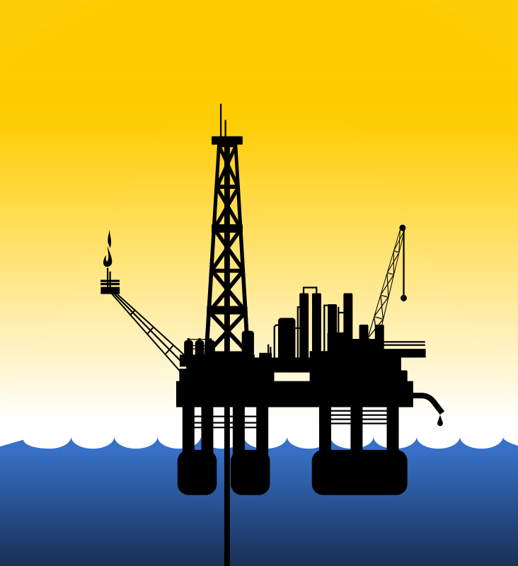 picture library download Oil background sky transparent. Rig clipart.