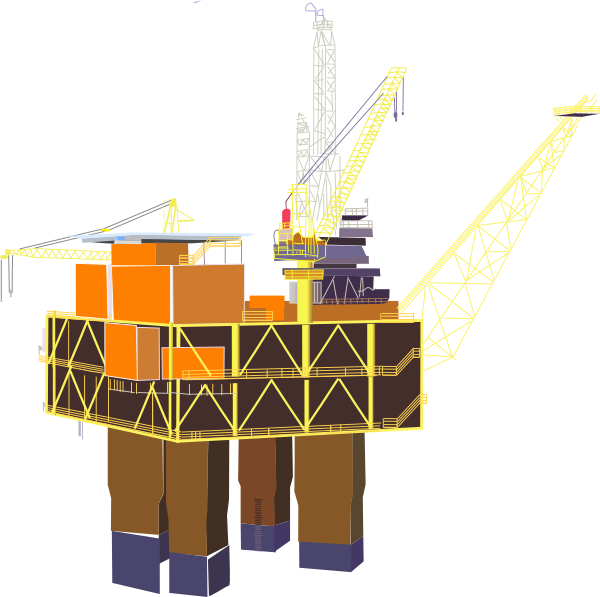 vector library Oil clip art free. Rig clipart.