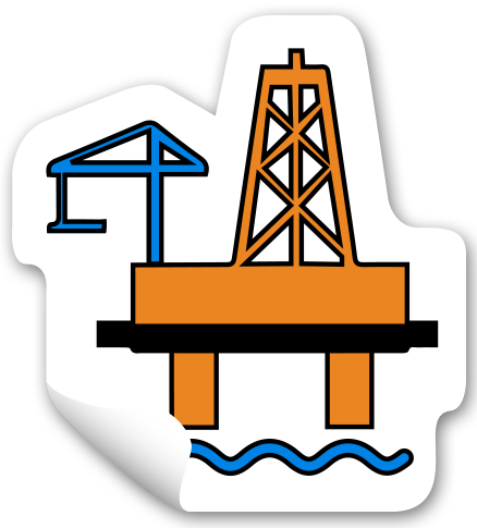 graphic royalty free library Oil worker free on. Rig clipart.