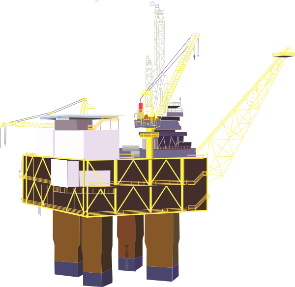 graphic library download Oil Rig Clipart svg