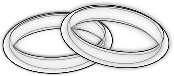 black and white library Rings clipart black and white. Lined clip art at