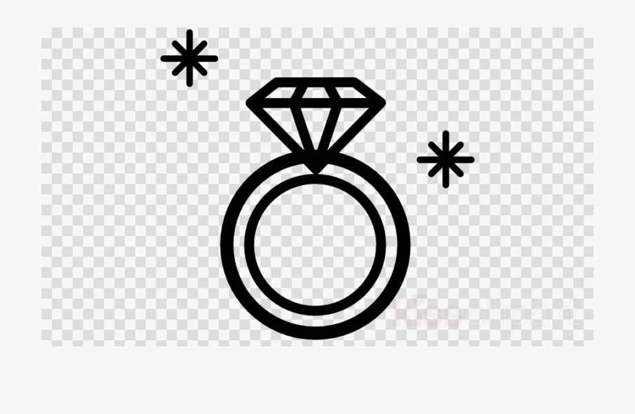 svg transparent library Diamond outline . Ring clipart.