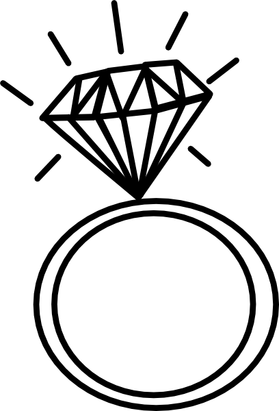 vector Wedding Ring Drawings